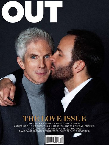 Tom Ford y Richard Buckley en la portada de 'OUT'