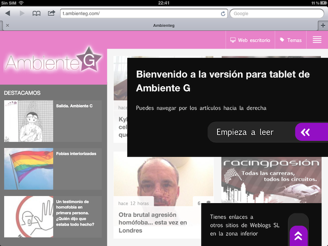 Ambiente G tablets